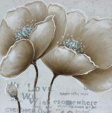 Moderne Hauptdekoration-Blumen-handgemachtes Segeltuch-Ölgemälde