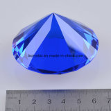 60mm Blue Small Crystal Fake Glass Diamond Paperweight