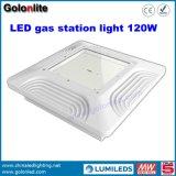 recolocação da lâmpada Halide de metal 250W para a luz 60W do dossel do diodo emissor de luz do posto de gasolina do gás