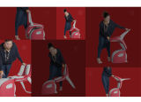 Fuss-Massage-Stuhl kann mit roter und schwarzer Farbe faltbar sein