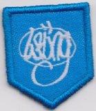 Emblema tecido do bordado do revestimento protetor do engranzamento beira preta