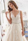 2017 A - linha vestidos de casamento nupciais de cristal Wd510