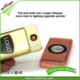 Металла золота Ocitytimes лихтер USB сигареты оптового Windproof электронный