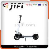 Zwei Rad-elektrischer Stoß-Roller mit dem Sattel und Licht wahlweise freigestellt