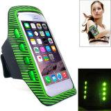 Großhandelsarmbinde-Kasten bunte Lycra LED blinkende Sicherheits-Armbinde für Telefon