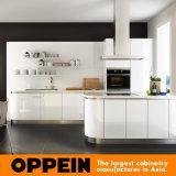 Cocina de la galera de acrílico blanca moderna caliente de la venta de Oppein pequeña (OP16-A03)