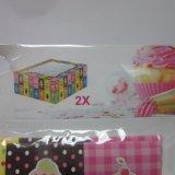 Rectángulo de papel de la magdalena de S/2 K/D para la caja de embalaje 4PCS