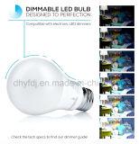La bombilla omnidireccional del LED A19 6W, Dimmable, 40W equivalente, 3000k calienta el blanco, 470 lúmenes, 25, 000 horas de la vida