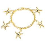 Stern-Charme-Armband-Frauen-Goldcharme-Armband