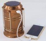 Indicatore luminoso di campeggio solare del più nuovo commercio all'ingrosso della fabbrica con l'interfaccia del USB