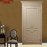 Portes intérieures en bois solide de teck des Etats-Unis d'avant blanc de chambre à coucher (GSP2-098)