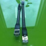 Métal d'en cuivre de câble de cavalier de la gaine Cat7 de tressage