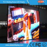 Tevê interna da tela de indicador do diodo emissor de luz da cor cheia P2.5 HD