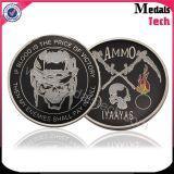 Il marchio stampato rotondo di figura popolare di Buliding Sandblasted le monete su ordinazione di sfida del metallo