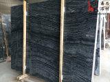 床タイルおよび壁のタイルのための自然な石造りの高品質の黒の大理石の平板の骨董品