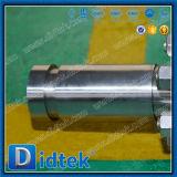 La bride de Didtek termine le double robinet à tournant sphérique de X TNP F304 Dbb