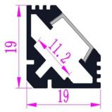 V-förmiges LED-Aluminiumprofil für LED-Farbband