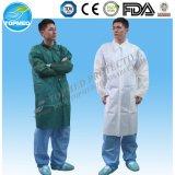 Cappotto impermeabile del laboratorio di PP+PE, Laboratorio-Abito a gettare di PP+PE