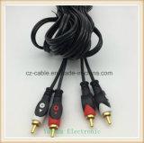 de Kabel van de Stop 2RCA/2r AV/TV/Audio aan 2RCA/2r Jack, 2r-2r verbindt Kabel onderling