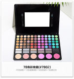 Gama de colores del sombreador de ojos del color del maquillaje de 78 colores