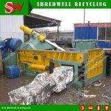 Machine de emballage de mitraille hydraulique pour réutiliser bidons d'acier/en aluminium de rebut