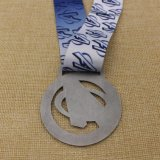 OEM Verwijderde Medaille van het Ras van de Marathon van de Toekenning van het Metaal van het Ontwerp met het Lint van de Sublimatie
