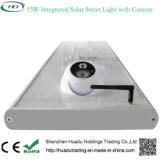Câmera solar ao ar livre do CCTV de WiFi da luz de rua do diodo emissor de luz 15W com sensor de movimento