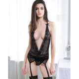 Dark Temptations Deep V-Neck Femme Vêtements de nuit