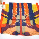 De lange Afgedrukte Sjaal van het Strand Dame Fashion Silk Scarf