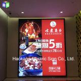 panneau éclairé à contre-jour de menu du cadre de tableau de pouce 24X48 DEL pour les aliments de préparation rapide de restaurant annonçant l'étalage