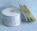 Cinta de oro metálica vendedora caliente, diagonal barato de China, cinta metálica del brillo