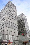 El panel compuesto de aluminio exterior de Aluis PVDF 3m m de la plata de Champán para la base del aluminio de 0.5m m