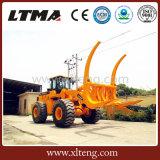 中国のサトウキビのローダー販売のための8トンのログのローダー