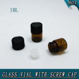 1ml 1/4 D-RAM kleine bernsteinfarbige Öffnungs-Reduzierstück-Dichtungs-Glas-Flaschenglas-Phiole