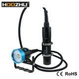 Hoozhu Hv33 4 색깔 가벼운 양철통 잠수 영상 가벼운 최대 4000lm 수중 100m LED 플래쉬 등
