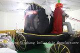 Heißer Verkauf aufblasbares Horse-Drawn Carrige für Halloween-Dekoration