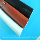 Sleeving da fibra de vidro da prova de incêndio revestiu com o silicone/vidro de fibra que Sleeving 1650 graus