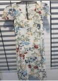 Напечатанное благородное платье женщины способа