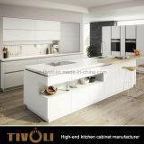 店のデッサンODM OEM Tivo-0089hとカスタム食器棚のための白い食器棚