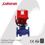 Robinet à tournant sphérique rayé de fluor de fournisseur de Wenzhou avec le dispositif d'entraînement électrique