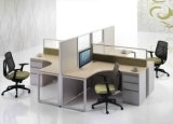 Partition en bois en verre en aluminium moderne de poste de travail/bureau de compartiment (NS-NW045)