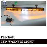 호박색과 백색 LEDs에 있는 까만 알루미늄 합금 주거 챙 바 빛