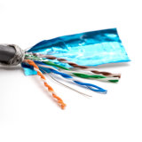 Bleu double blindé SFTP Double Jacket 4p Cat5e Network Cable