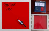 Nota coloreada roja Whiteboard del vidrio Tempered