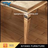 6人が付いているステンレス鋼の家具の大理石のダイニングテーブル