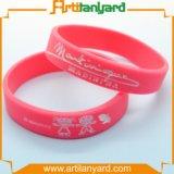 Wristband di gomma personalizzato del silicone di fascino