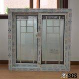 Двойное стекло с профиля цвета UPVC решетки окном белого сползая, окном UPVC, окном Kz391