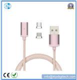 Großhandelsnylonflechte 2 magnetisches Kabel USB-in-1 für Android u. Typen C
