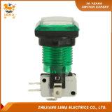전기 33.4mm 정연한 플라스틱 누름단추식 전쟁 스위치 녹색 Pbs-008