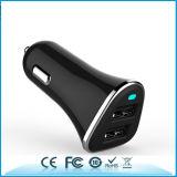 Chargeur duel personnalisé de véhicule du téléphone mobile USB du logo 2.4A/3.4A/4.8A